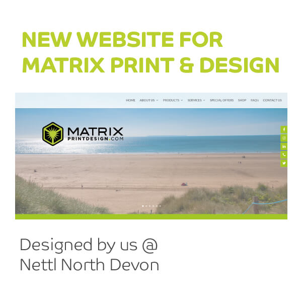 New Website for Matrix Print & Design